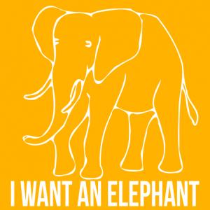 I WANT AN ELEPHANT Logo