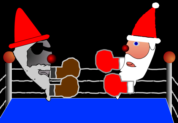 santa fight by gag