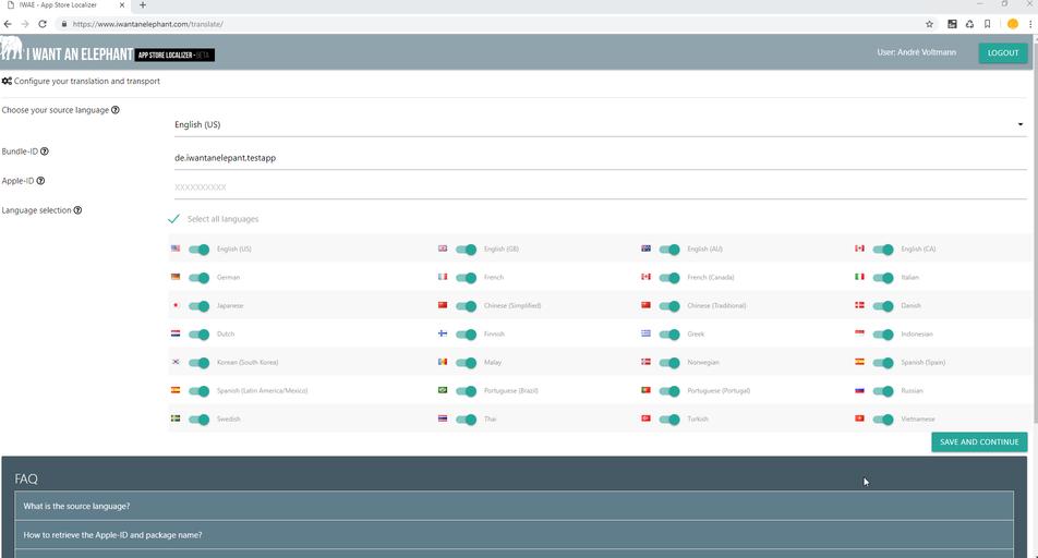 app store localizer application languages