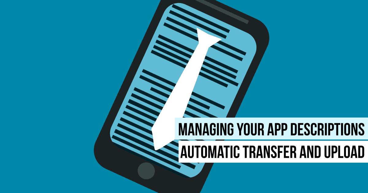 Manage your app descriptions