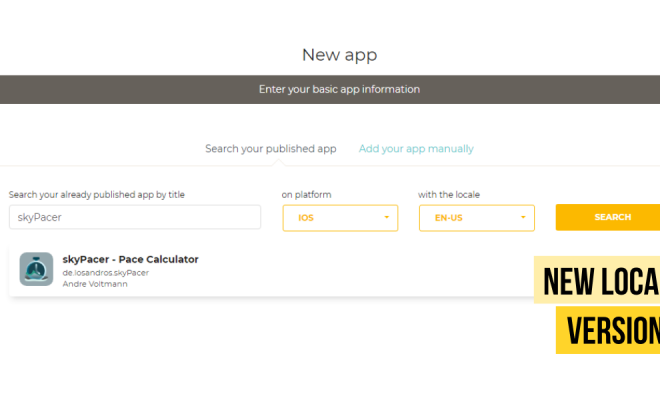 New App Store Localizer version