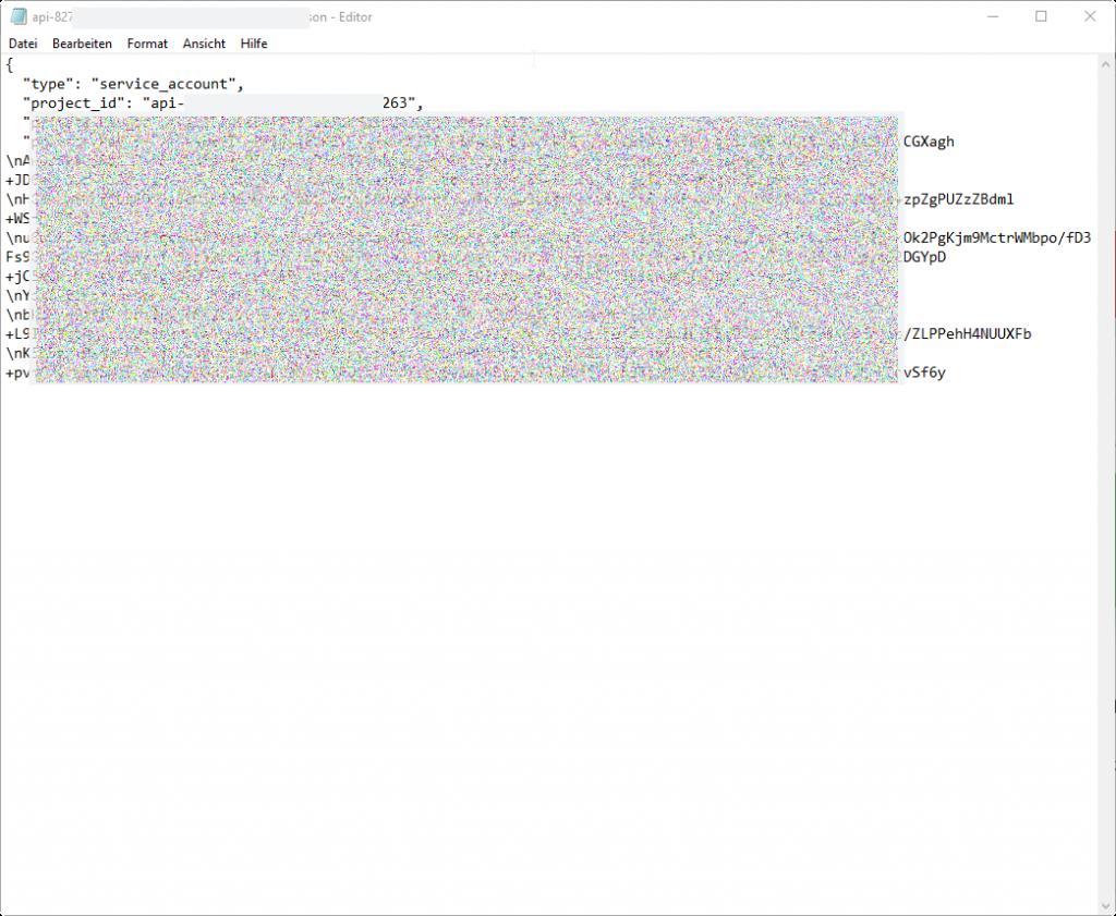 Set Google Play Access JSON Key File