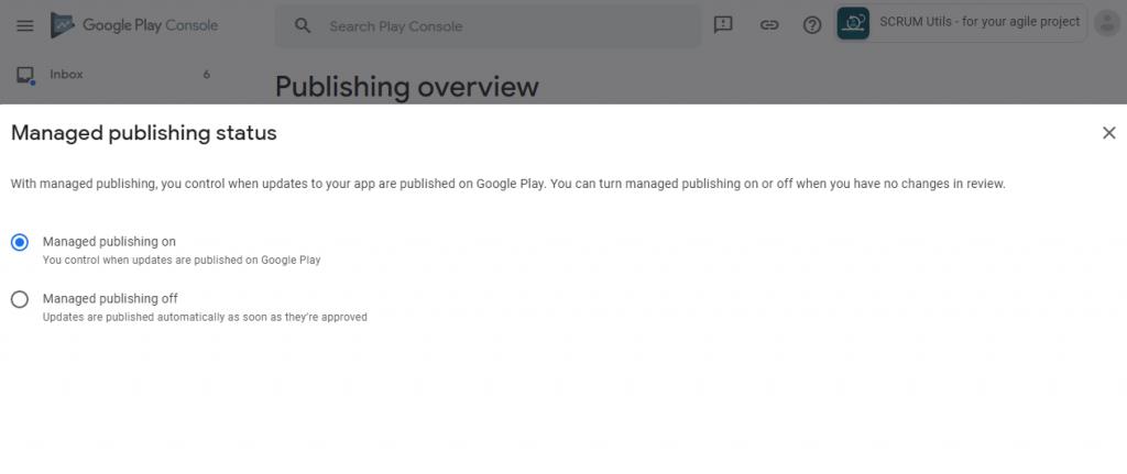 Manage Publishing Configuration