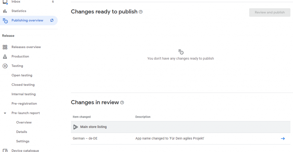 Manage Publishing Overview In Review
