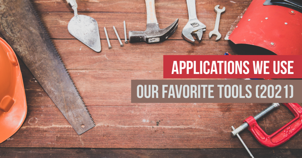 Applications we use