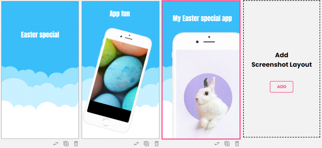 Easter app screenshots with LaunchMatic